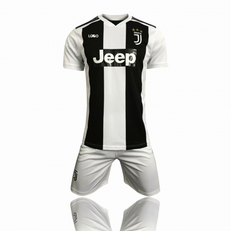 pretty nice e2b2a f5c9c 18/19 Juventus Home Soccer Uniform Replica Soccer Jersey kit Men Football  Jersey set