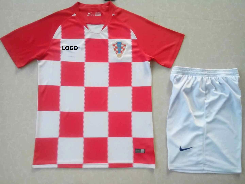 e7b411511c5 2018 AAA Men Crotia Home Soccer Jersey Uniform DIY Adult Football Kit