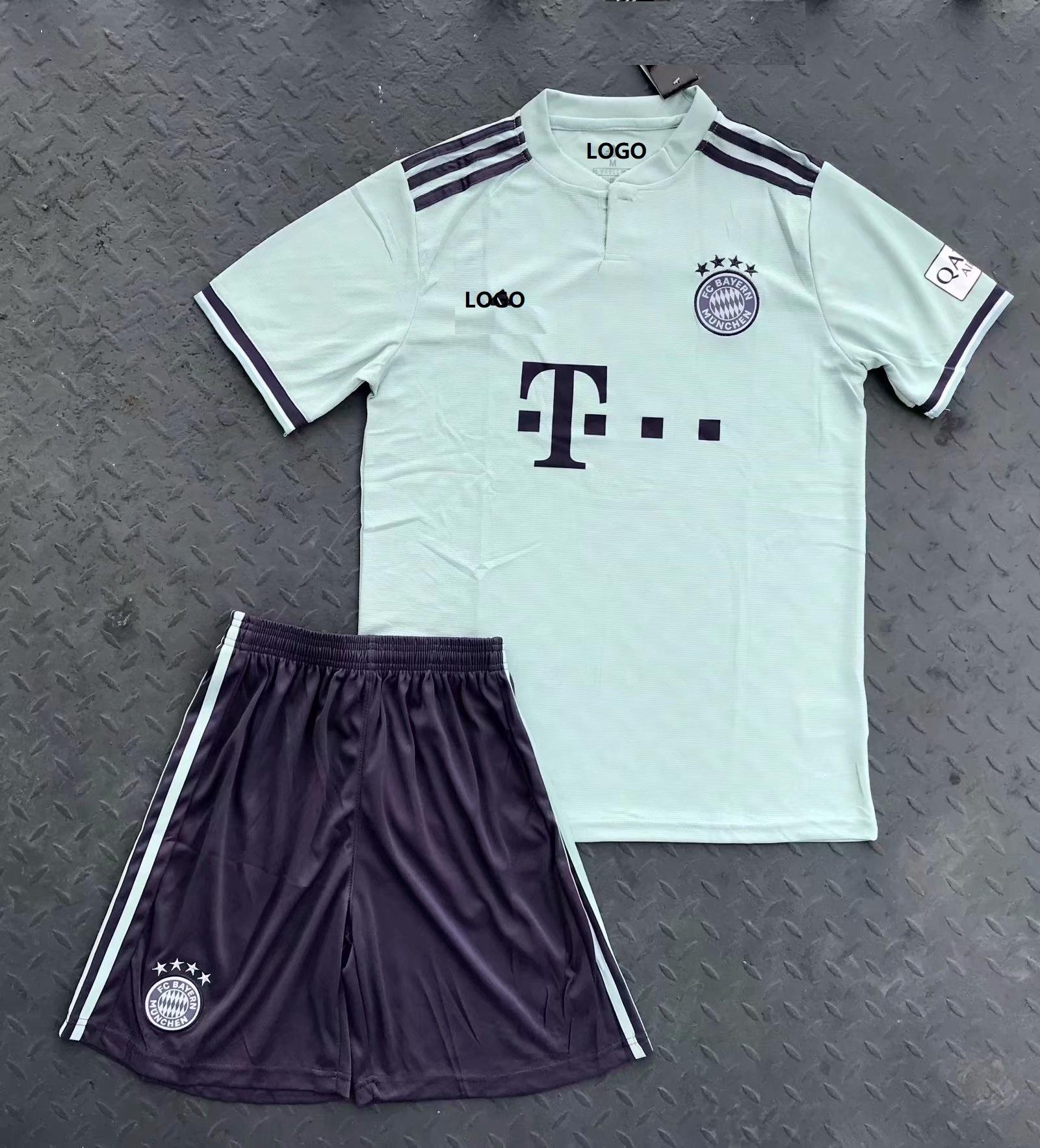 843e717624d 2018 19 Bayren Away Soccer Uniform Men Football Kits DIY Custom Soccer Team  Kit