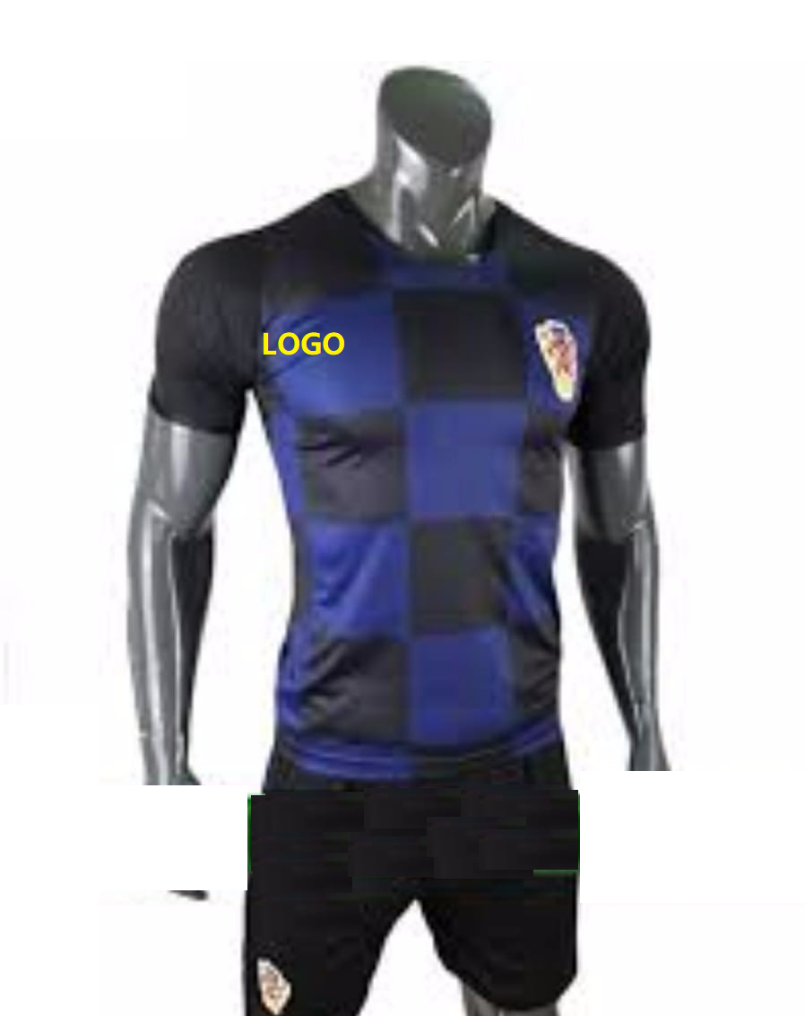 2018 19 AAA Men Croatia Away Blue Soccer Uniform Customize Football Jersey  Kits 904c5a587