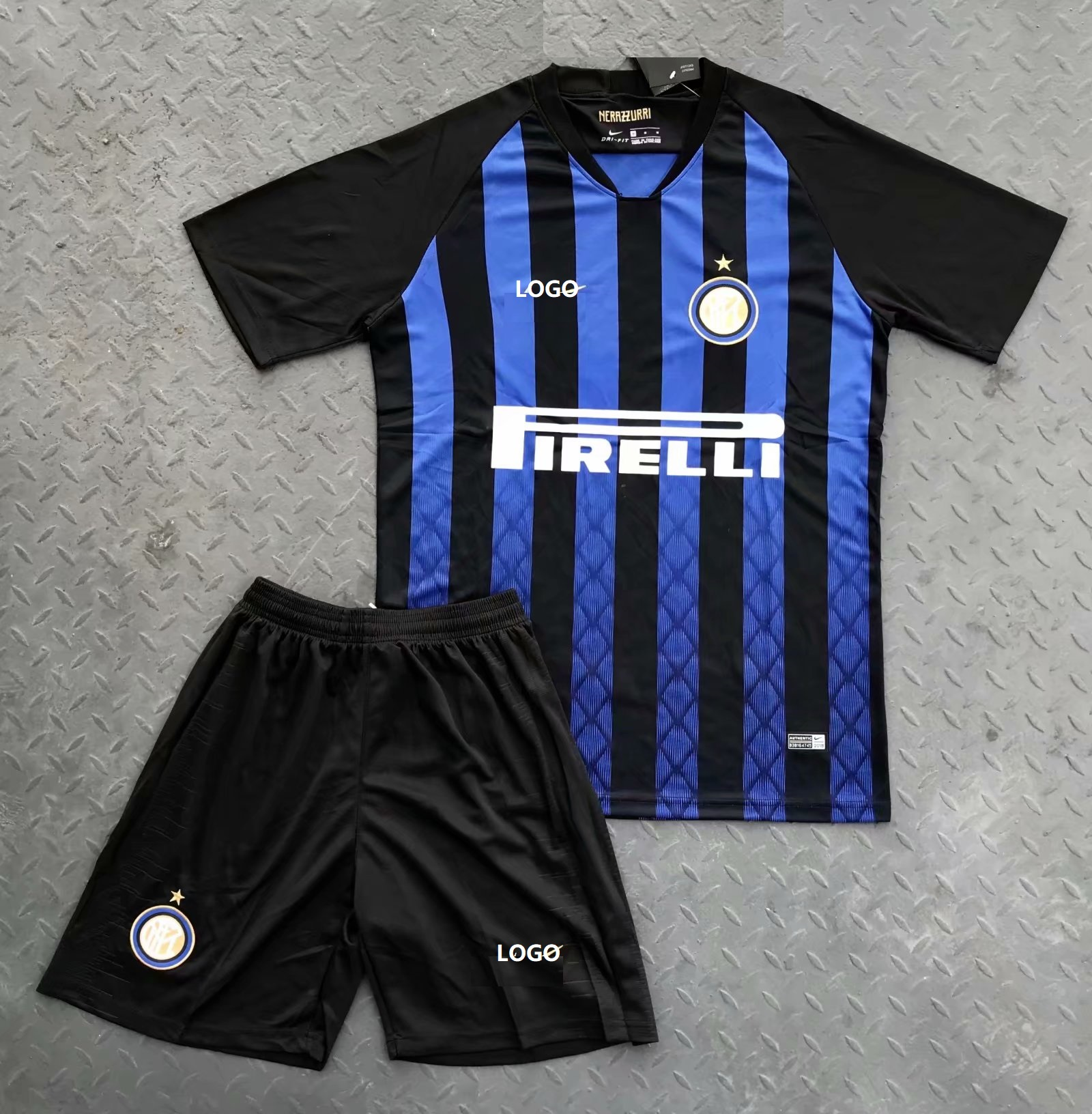 3176cb53f12 2018 19 Inter Milan Home Blue Soccer Jersey Uniform Custom Football Jersey  Uniform