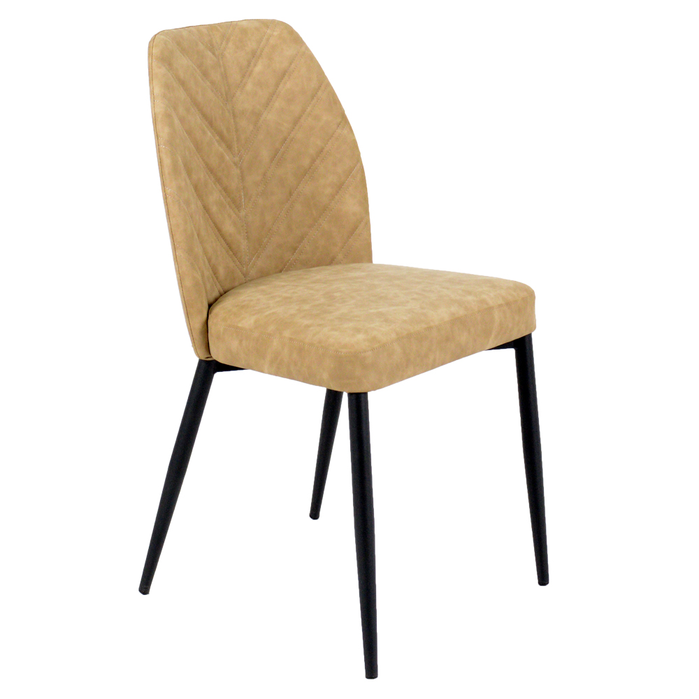 Wholesale 2018 Cheap Price High Back Durable Finishing Frame Pu Leather Dining Room Chairs