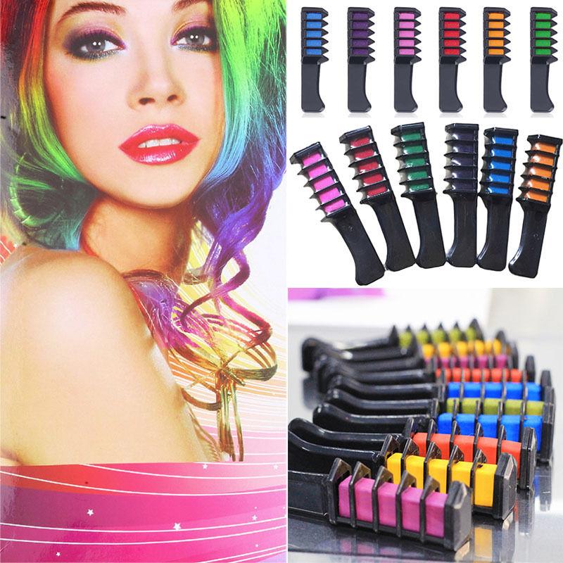 Us 139 6 Colors Temporary Hair Chalk Hair Color Comb Dye Salon