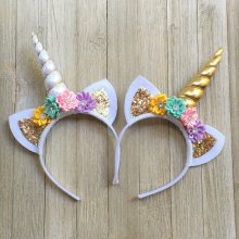 Unicorn Horn Head Party Kid Hair Band Headband Fancy Dress Cosplay Decorative