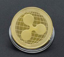 2018 Ripple Coins XRP Gold Plated Commemorative Round Collectors Collectiable