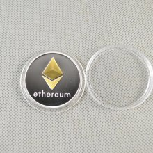 ETH Commemorative Collectible Golden Silver Iron ETH Ethereum Miner Coin XNB15