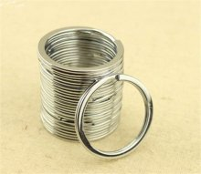 10Pcs Metal Key Holder Split Rings Keyring Keychain Keyfob Accessories 30mm