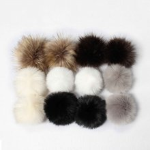 DIY Faux Fur PomPom Ball For Hat Bags Keychain Fluffy Ball Pendant Accessories