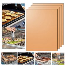 Kitchen Copper Chef Grill and Bake Mats Outdoor BBQ Barbecue Tools New 2018
