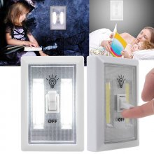 3W COB LED Wireless Wall Switch Closet Cordless Night Light Battery Operated