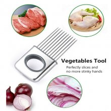 Stainless Steel Onion Holder Slicer Vegetable tools Tomato Cutter Home Gadget