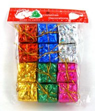 Mini 12pcs Christmas Ornaments Foam Gift Box Xmas Tree Hanging Party Nice Decor