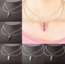 Trendy Women Crystal Chain Choker Statement Chunky Collar Pendant Necklace