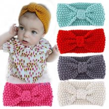 Kids Girls Baby Toddler Cute Crochet Bow Headband Hair Band Accessories Headwear