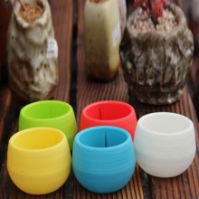 Wholesale Mini Plastic Flower Pot Succulent Plant Flowerpot For Home Office Deco