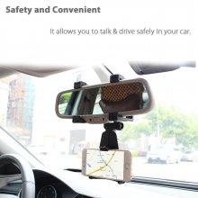 Car Rearview Mirror Universal Car Mount Holder Stand Cradle For Cell Phone GPS