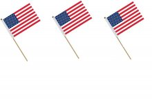 Small Handheld American Flags USA Military Stick Ground Flags 14*21cm