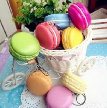 1pc Kawaii Soft Dessert Macaron Squishy Cute Cell phone Charms Key Straps Access