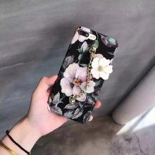 Flower Plastic Matte SmoothHard Metal Pendant Case For iphone 6/6S Plus /7 7PLUS