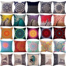 18  Vintage Leaf Flower Cotton Linen Throw Pillow Case Cushion Cover Home Decor