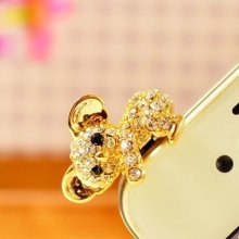 2016 Hot Sale Cute Koala Design 3.5mm Earphone Anti Dust Plug Stopper For Phone