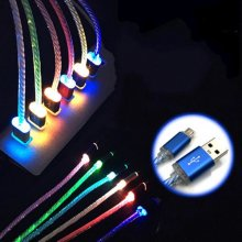 1x Glow LED Charger Luminescent Charging Date Sync USB Cable For Samsung Android