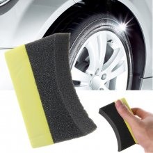 10Pcs Car Professional Tyre Tire Dressing Applicator Curved Foam Sponge Pad