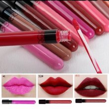 38PCS Sexy Red Waterproof Liquid Lip Gloss Matte Lipstick Lip Pen Long-Lasting Makeup