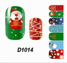 Art Decals Snow Full Self Nail Wraps Stickers Adhesive Polish Foils Decoration