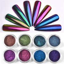 Optical Chameleon Mirror Powder DIY Dust Nail Art Glitter Chrome Pigment