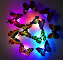 Changing Colorful Romantic Butterfly Night LED Light Home Room Lamp Decor