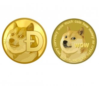 Gold Dogecoin Commemorative Round Collectors Coin XRP Coins Gifts