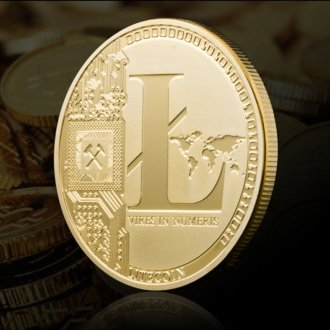 Gold Plated Commemorative Litecoin Collectible Golden Iron Miner Coin Gift XN9