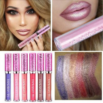 Waterproof Sexy Iridescent Glitter Matte Liquid Lipstick Beauty Makeup Lip Gloss