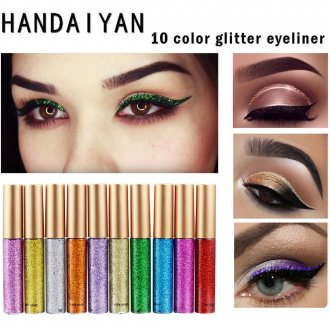 Makeup Metallic Shiny Smoky Eye's Eyeshadow Waterproof Glitter Liquid Eyeliner
