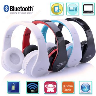 Wireless Bluetooth Headset Stereo Headphone Earphone for iPhone Samsung LG lot