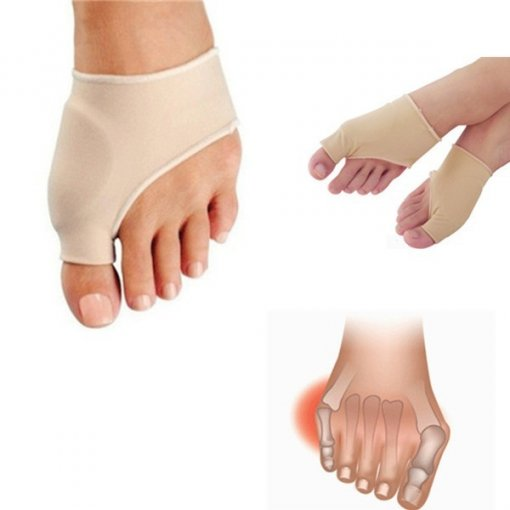 2 x Fabric Gel Toe Bunion Pad Protector Hallux Valgus Corrector Straightener Care