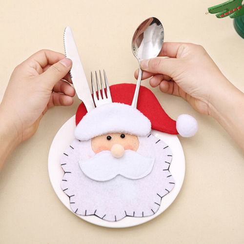 Santa ClausCutlery Gift bag Christmas tree decorations xmas cutlery decorationsB