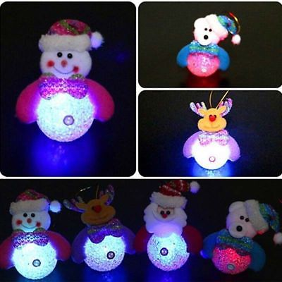 Christmas Gift LED Snowman Lights Home Ornaments Xmas Tree Hanging Decoration