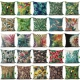 18!Tropical plant Floral leave Pillow Case Cotton Line Home Square Cushion Cover