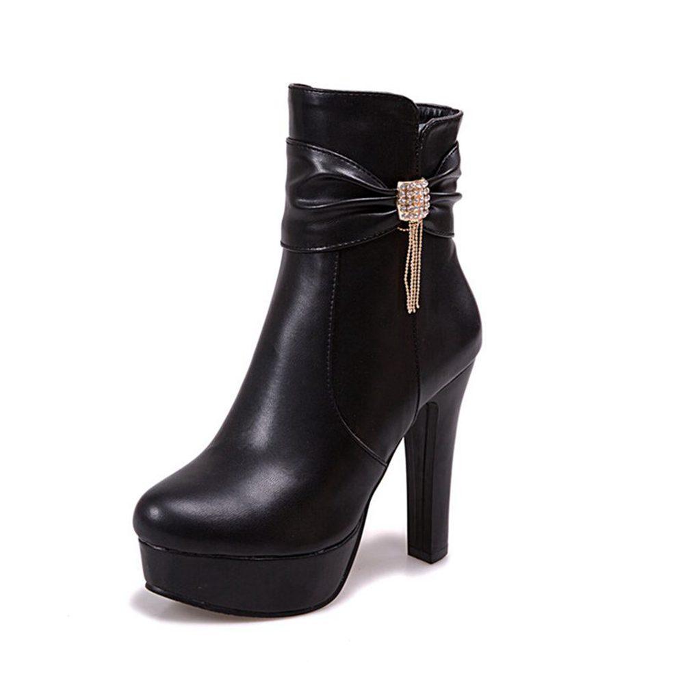 Deco Stain Women's Zipper High Heel Sandals B075WSC8BJ