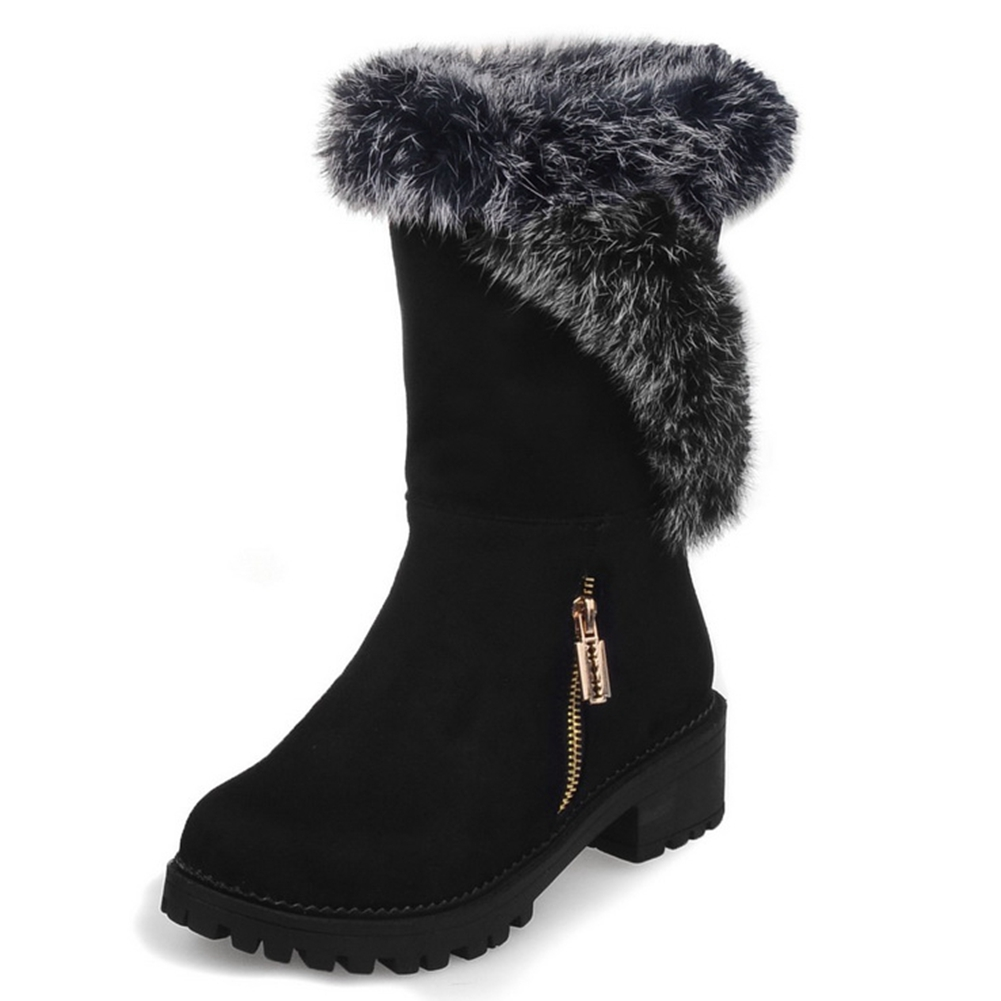 Comfort Winter Snow Warm Soft Mid Calf Boots