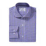 Mens Modern Fit Cotton Formal Dress Shirts Blue/Navy