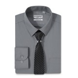 Mens Dress Shirts Solid Color Long Sleeve Solid Dark Gray