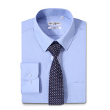 Mens Dress Shirts Solid Color Long Sleeve Solid Blue