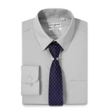 Mens Dress Shirts Solid Color Long Sleeve Solid Gray