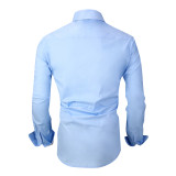 Alex Vando Mens Big & Tall Dress Shirts Regular Fit Long Sleeve Men Shirt Blue