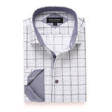 Mens Printed Casual Long Sleeve Dress Shirt print-01-A7163