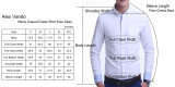 Mens Printed Casual Long Sleeve Dress Shirt print-01-A6974
