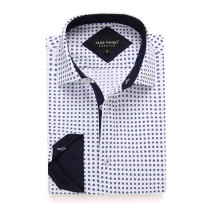 Mens Printed Casual Long Sleeve Dress Shirt print-01-K1206